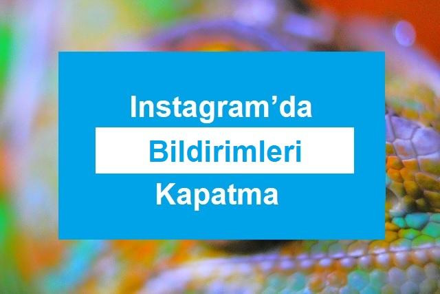instagram bildirim kapatma