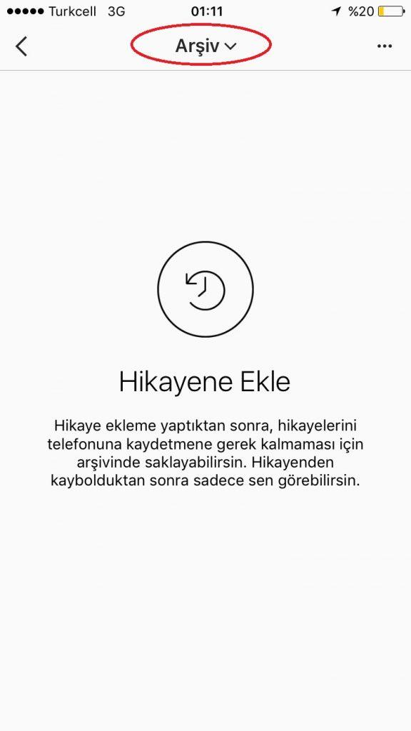 instagram arşivlenen videolar