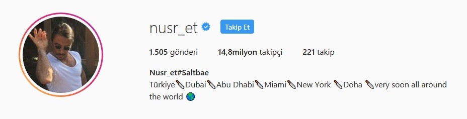 instagram en çok takipçisi olan Türk